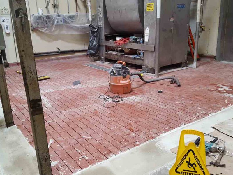 Acid Brick flooring