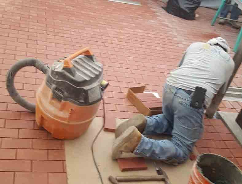 Dairy brick installation