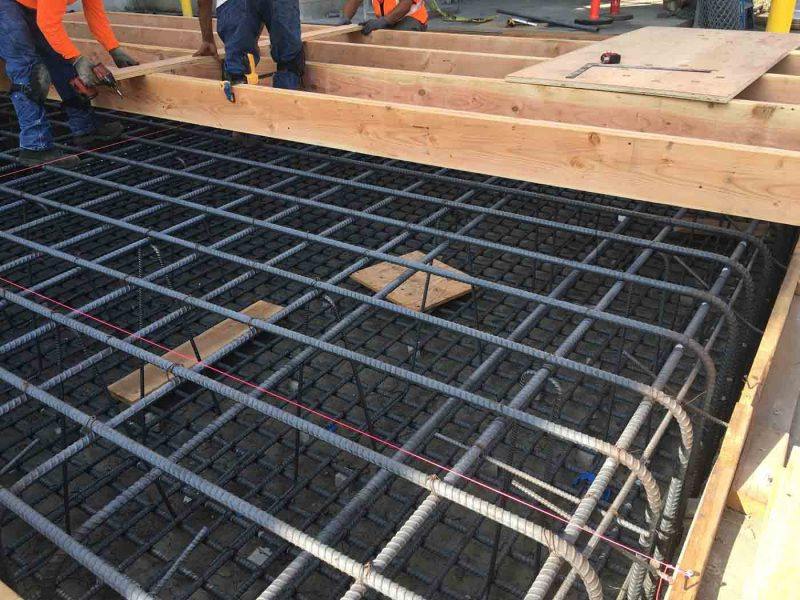 Reinforced Tank Pad Saputo Industrial Construction