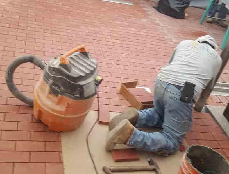 Dairy brick installation