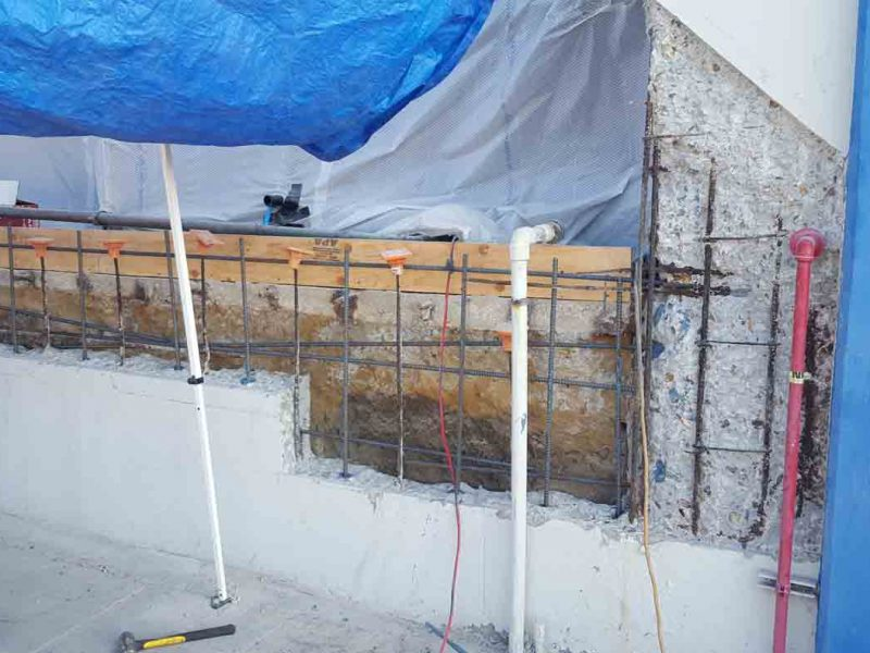 Eroaded structual wall repair