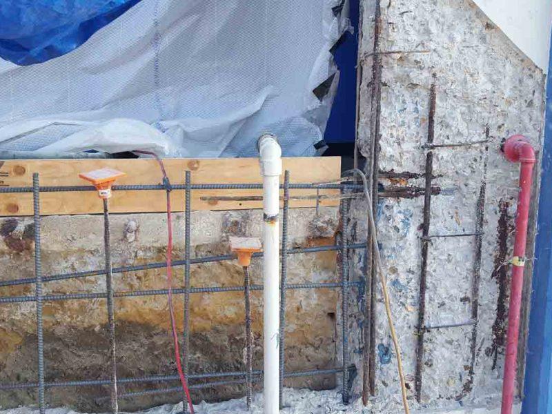 Eroaded Wall Repair