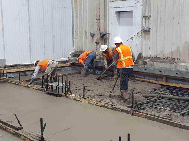 Construction slab work