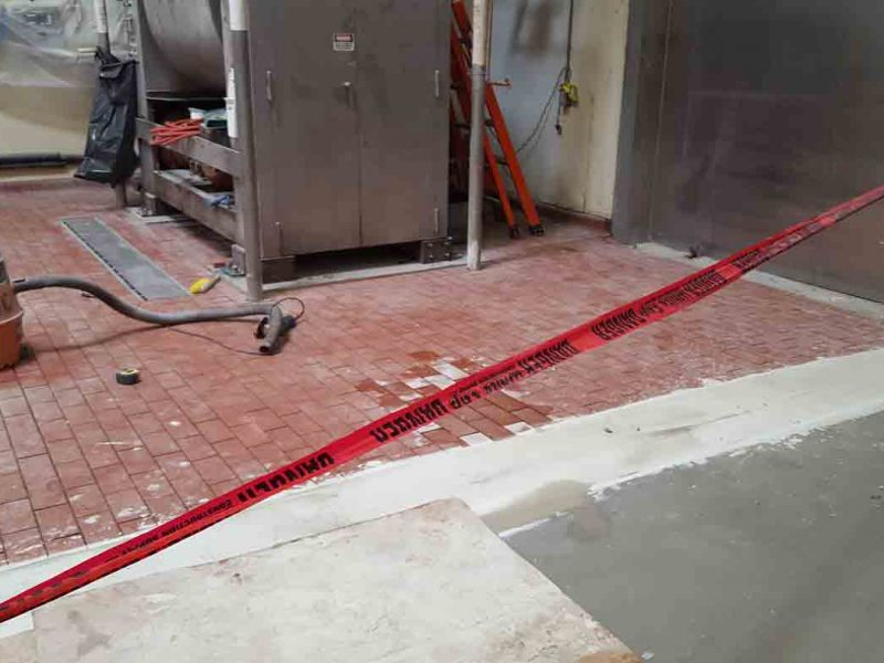 Mixer pad install with new dairy brick