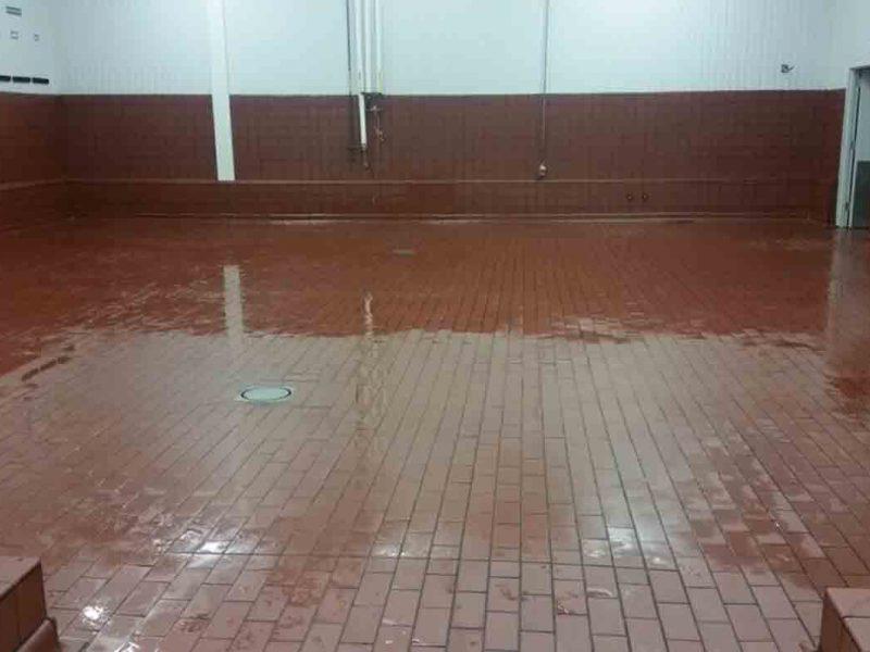 New Dairy Brick Floor