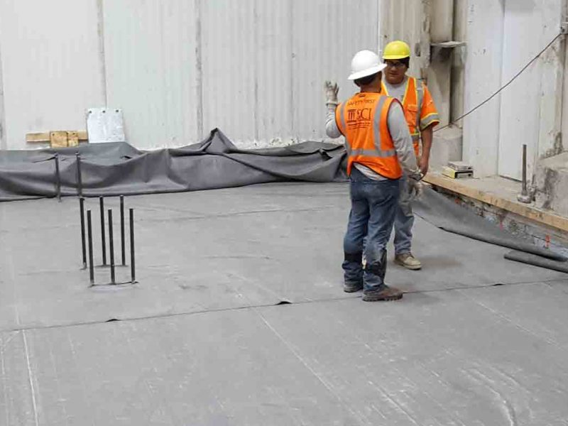 New slab for freezer install by Saputo Construction